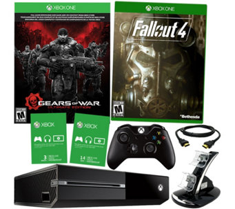 Xbox One 500GB Gears Bundle with Fallout 4, 3-Month Xbox Live - E229347