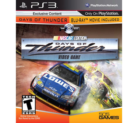 Days of Thunder w/Movie - PS3