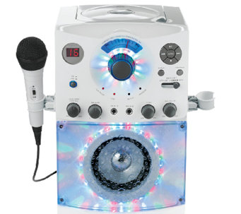Top-Loading CDG Karaoke System with Sound & Disco Light Show - E273647