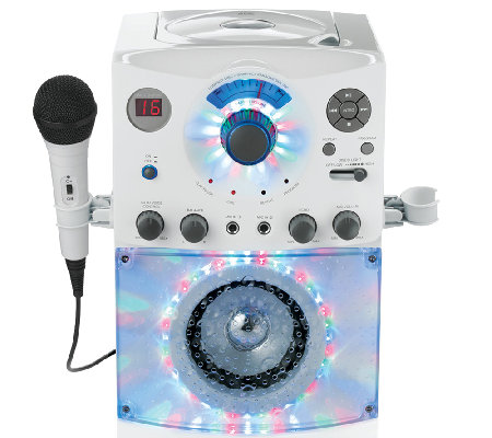 Top-Loading CDG Karaoke System with Sound & Disco Light Show