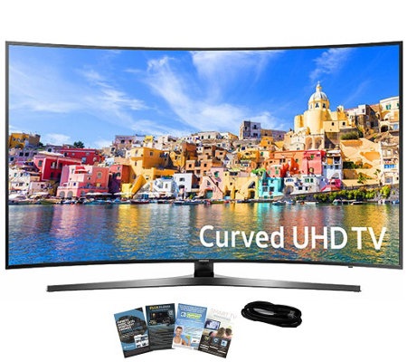 "Samsung 65"" Curved Smart Ultra HDTV with App Pack and HDMI"