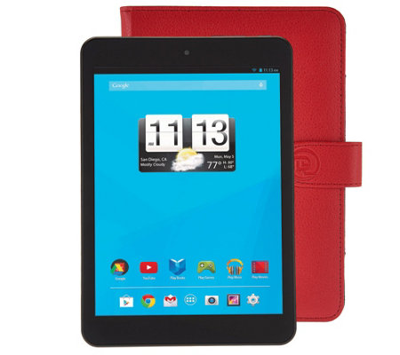 "Trio 8"" Wi-Fi 8GB Quad Core Tablet with Red Case & Software"