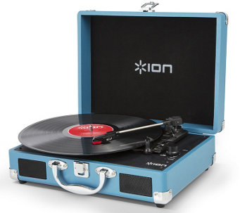 Ion Vinyl Motion Rechargeable Turntable with Integrated Case - E286548