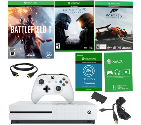 Xbox One S 500GB Battlefield 1 Bundle w/ 3 Games & Accessories