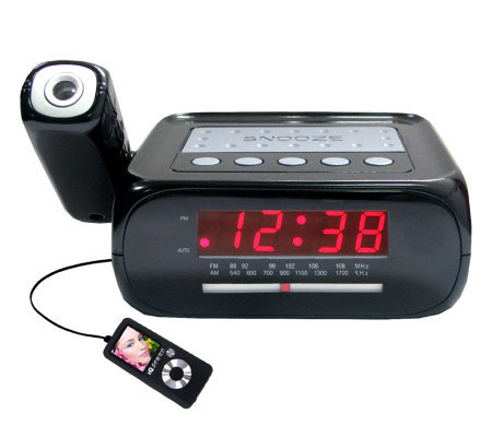 SuperSonic SC-371 Digital Projection Alarm Clock w/AM/FM Radio