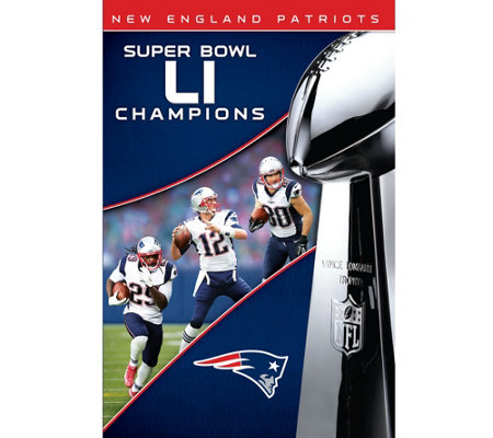 New England Patriots NFL Super Bowl 51Champions DVD