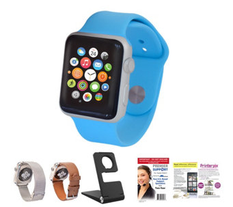 Apple Watch - 38MM Face with 2 Additonal Band, Stand & Software - E228950