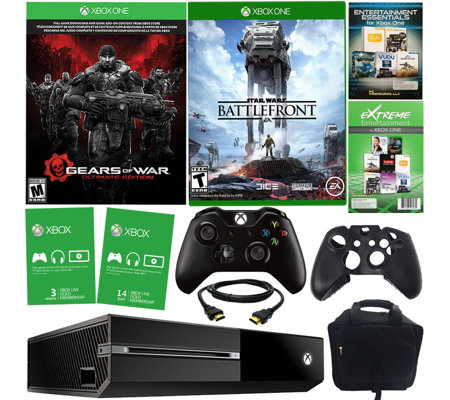 Xbox One 500GB Gears of War Bundle w/ Battlefront, Accessories