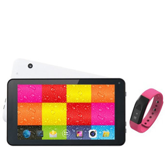 "Supersonic 7"" 4GB Quad Core Tablet with FitnessBand - E286550"