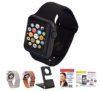 Apple Watch - 42MM Face with 2 Additional Bands, Stand & Software - E228951