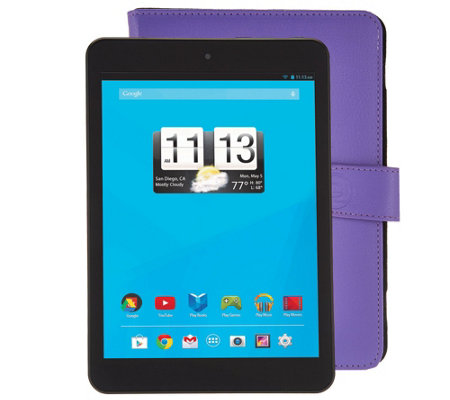 "Trio 8"" Wi-Fi Quad Core Tablet with Purple Case & Software"