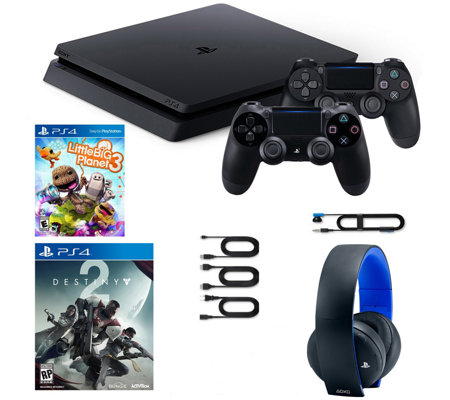 Sony PS4 1TB with 2 Games, 2 Controllers & Wireless Headset