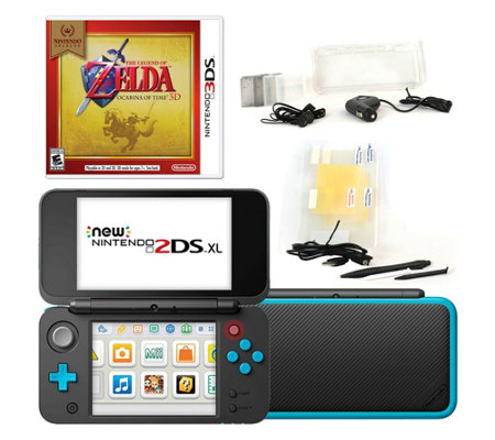 Nintendo 2DS XL with Zelda Game & Accessories -Black