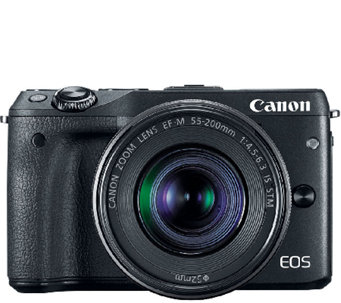 Canon EOS M3 Digital Camera Body with EF-M 18-55mm Lens & Mor - E285752