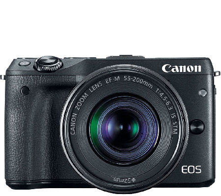 Canon EOS M3 Digital Camera Body with EF-M 18-55mm Lens & Mor