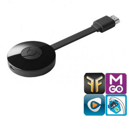 Google Chromecast 2.0 Streaming Media Player with Software