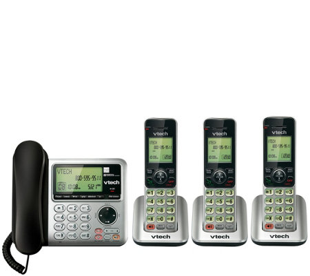 Vtech CS6649-2 Four-Piece Corded/Cordless Answering System Set