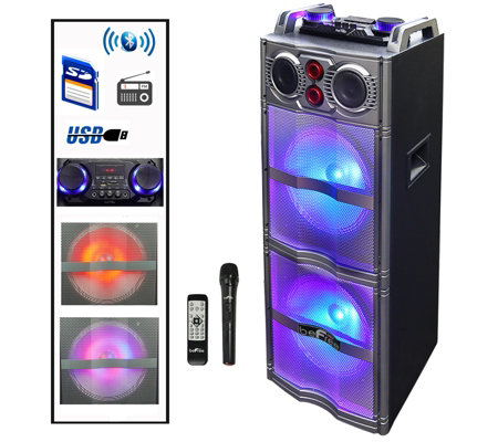 "beFree Sound Double 10"" Subwoofer with Party Lights"