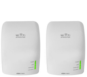 Hover-Way 2Pack Dual Band Wireless AC Router & Wi-Fi Extender Bundle - E229853