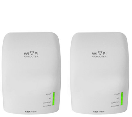 Hover-Way 2Pack Dual Band Wireless AC Router & Wi-Fi Extender Bundle