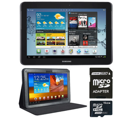 "Samsung Galaxy Tab 2, 10.1"" 16GB w/ 16GB MicroSDCard, Adapter"