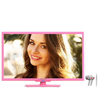 "Sceptre 24"" Class Diagonal LED HDTV with Headphones - E278353"