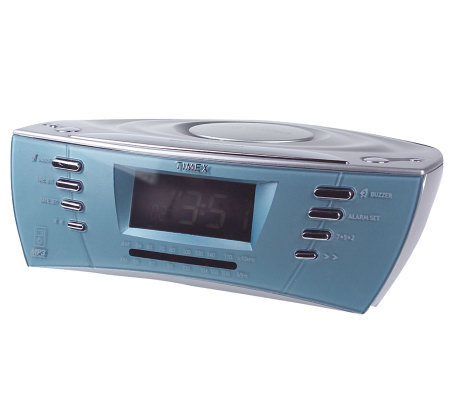 Timex Dual Alarm Clock Radio W Mp3 And Cd Line In