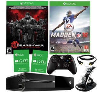 Xbox One 500GB Gears of War Bundle with Madden 16 & Accessories - E229354
