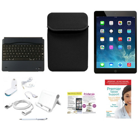 Apple iPad Air 16GB WiFi with BT Keyboard, Neoprene Case, & Accessories