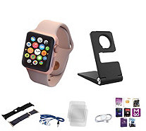Apple Watch Series 1 with 38MM Face, 2 Extra Bands, Stand &App Pack - E230354
