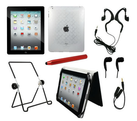 Apple iPad 2 16GB Wi-Fi Tablet with 7-Piece Bundle
