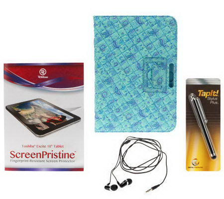 "Quilted Case and Accessories for 10.1"" Toshiba Excite"