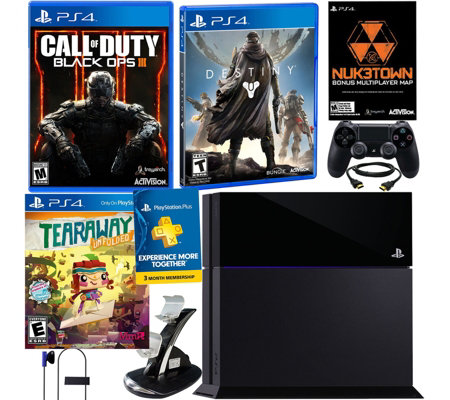 PlayStation 4 500GB Black Ops 3 Bundle with Destiny & Tearaway