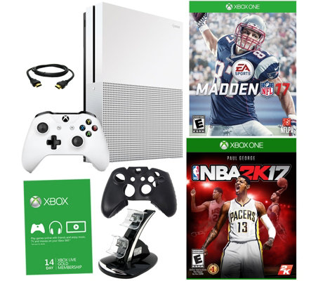 Xbox One S 1TB w/ Madden 2017, Choice of Game, Xbox Live Trial Card & More