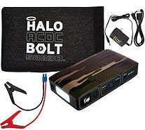 Ships 3/27 HALO Bolt ACDC Portable Charge Car Jumpstarter with AC Outlet - E230455
