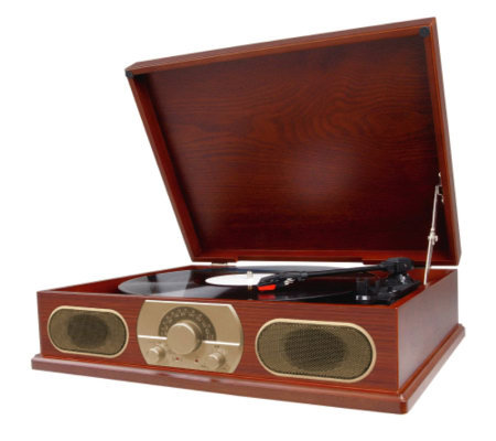 Studebaker SB6051 Wooden Turntable with AM/FM Radio