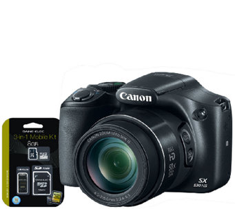 Canon PowerShot SX530 16MP Digital Camera w/ Wi-Fi, 3-in-1 Ki - E282155