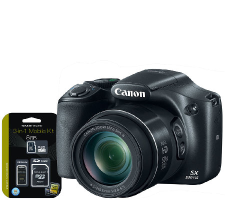 Canon PowerShot SX530 16MP Digital Camera w/ Wi-Fi, 3-in-1 Ki