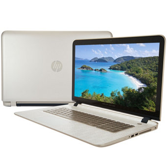 HP 17 Touch Gold LuxeLaptop A10 8GB RAM 1TB HD with Life Time Tech - E229856