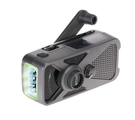 ETON Hand Crank AM/FM Weather Radio w/ USB Charger and Flashlight