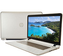 "HP 17"" Touch Gold LuxeLaptop A10 8GB RAM 1TB HD with Tech & MS Office365 - E229857"