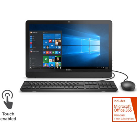 "Dell 20"" Touch All-in-One PC Intel Quad-Core 1yr ADP, 1TB HD & MS Office 365"