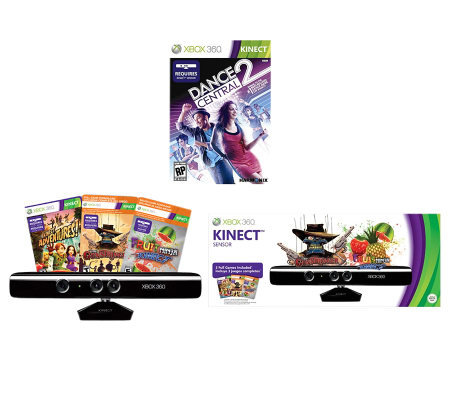Kinect Sensor for Xbox 360 bundle w/ Dance Central 2 & More