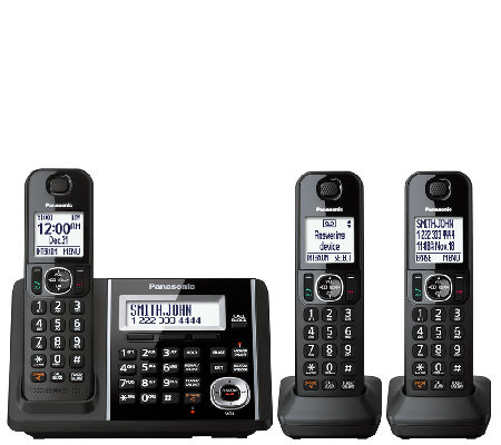 Panasonic Cordless Answering System with ThreeHandsets
