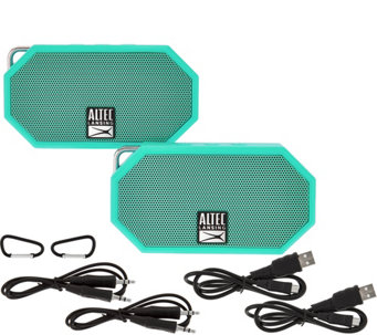 Altec Lansing S/2 Mini H2O Waterproof Bluetooth Speakers - E229558