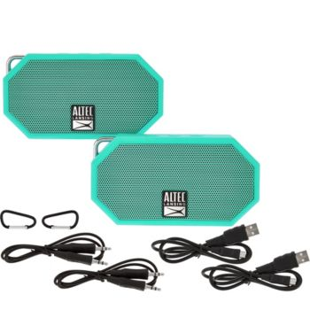 Altec Lansing S/2 Mini H2O Waterproof Bluetooth Speakers
