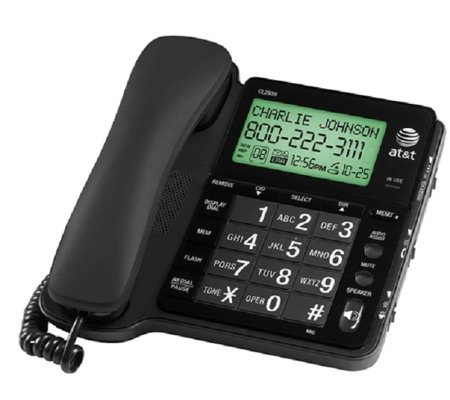AT&T CL2939 Corded Speakerphone with Large TiltDisplay