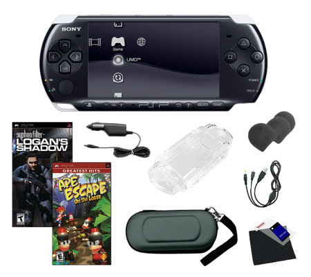 Sony PSP 3000 Bundle with 2 Games, Battery Pack& Accessories