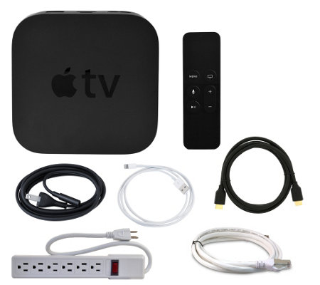 Apple TV Network Player 64GB with Remote, HDMICable, & Wi-Fi