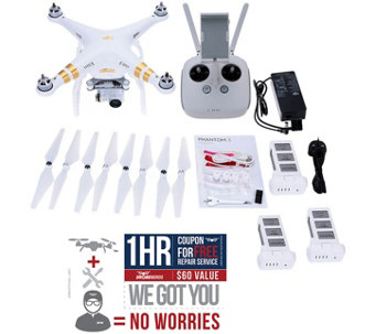 DJI Phantom 3 Professional Bundle with 2 Extr aBatteries - E290358